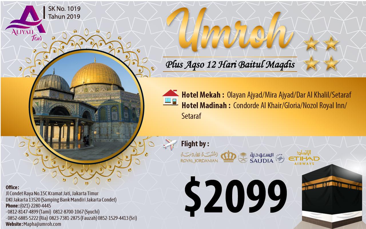 Umroh plus Aqso murah