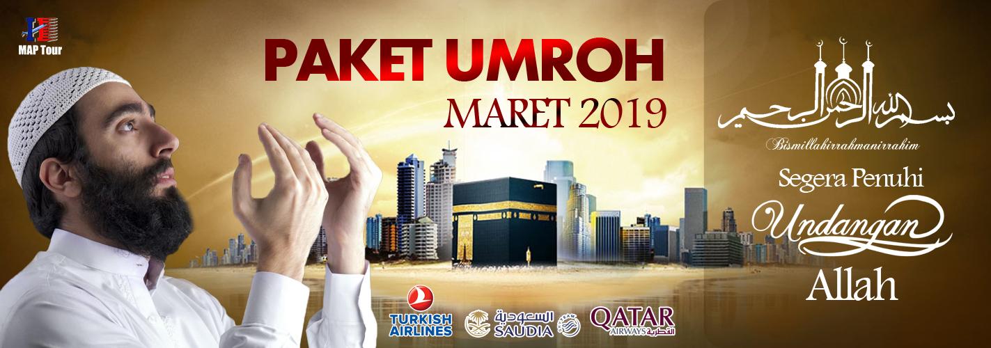 Banner Slide Website Paket Umroh Maret 2019